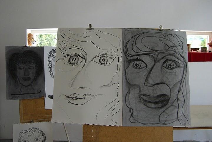 Workshop Zeichnungen, Foto: Heidi Förster